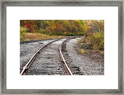 Railroad Fall Color Framed Print by Thomas R Fletcher