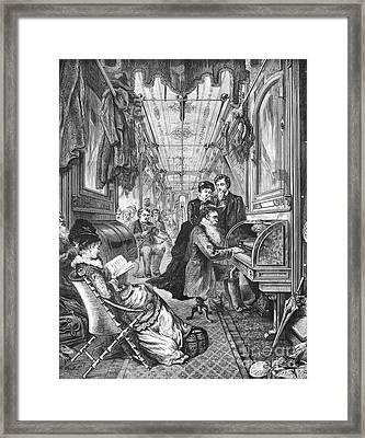Railroad: Interior, 1876 Framed Print
