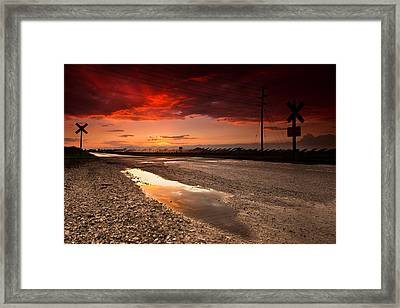 Railroad Reflection Framed Print by Cale Best