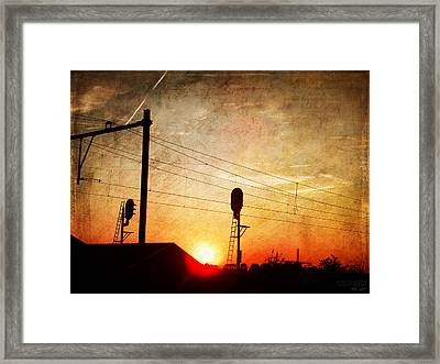 Railroad Sunset Framed Print