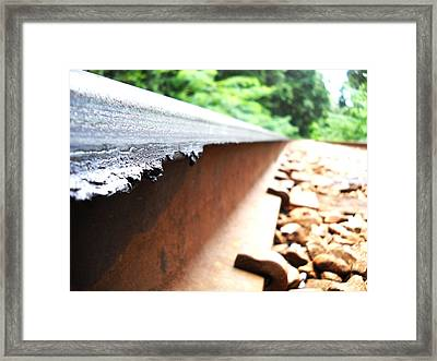 Railroad Track Framed Print