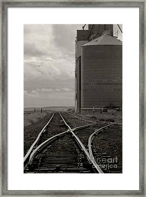 Railroad Tracks Hite Washington Framed Print by Larry Lawhead
