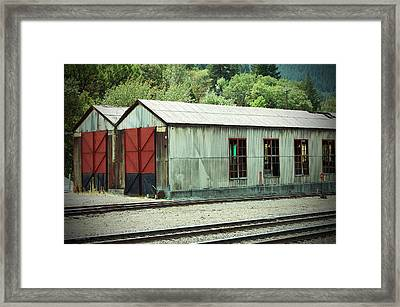 Railroad Woodshed 2 Framed Print by Holly Blunkall