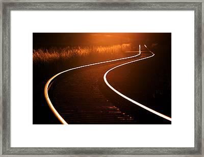 Railroads Framed Print by Thomas Splietker