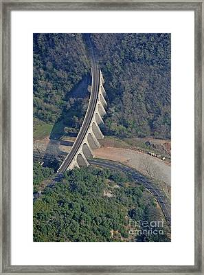 Railway Bridge Over Contryside Road Framed Print by Sami Sarkis