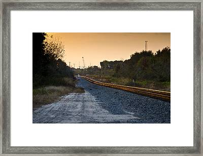 Railway Into Town Framed Print