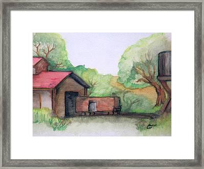 Railyard Framed Print by Timothy Hawkins