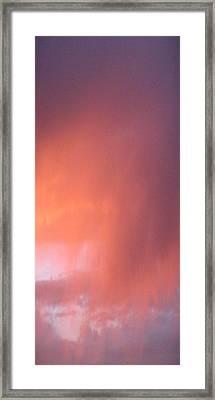 Rain At Sunset Framed Print by Alissa Beth Fox