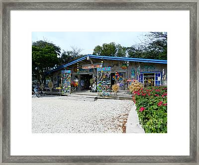 Rain Barrel Artisan's Village Framed Print by Tammy Chesney