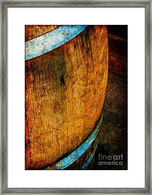 Rain Barrel Framed Print by Judi Bagwell