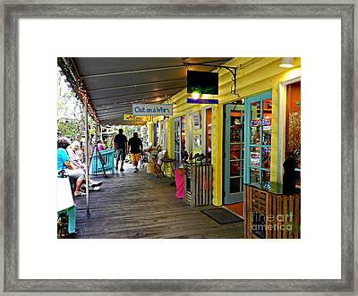 Rain Barrel Shops Framed Print by Tammy Chesney