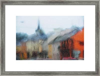 Rain. Carrick On Shannon. Impressionism Framed Print by Jenny Rainbow