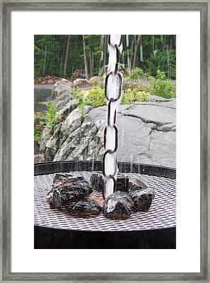 Rain Chain Framed Print