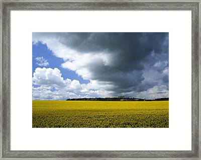 Rain Clouds Framed Print by Adrian Bicker