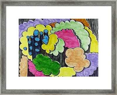 Rain Clouds Framed Print by Lesa Weller