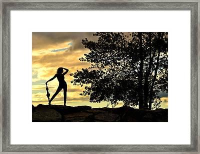 Rain Dance Framed Print