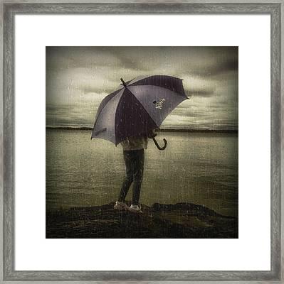 Rain Day 2 Framed Print by Heather  Rivet