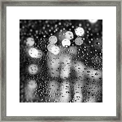 Rain Drops #rainy #raining #raindrops Framed Print