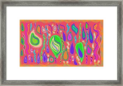 Rain Drops Framed Print by Rosana Ortiz