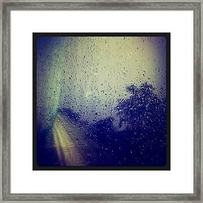 Rain Drops Framed Print by Sumit Jain