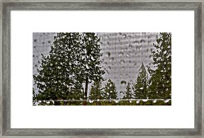 Rain On My Windowpane Framed Print by Kirsten Giving