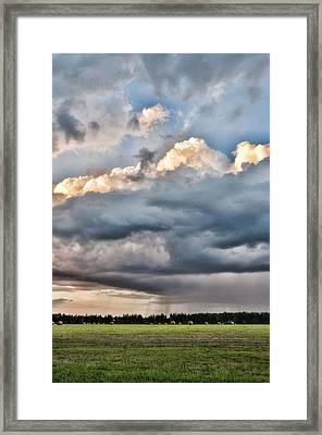 Rain On The Hay Harvest Framed Print by Jan Amiss Photography