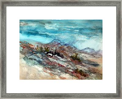 Rain Over The Mountain Framed Print by Ron Stephens