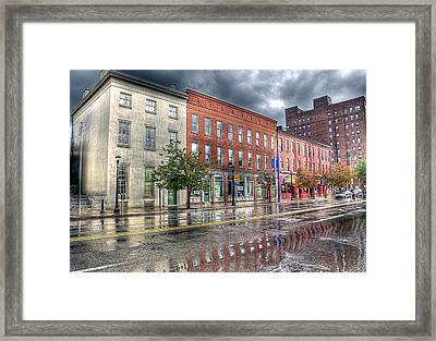 Rain Reflection Framed Print by Brian Fisher