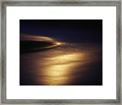 Gold Water On The Street Framed Print by Skip Nall
