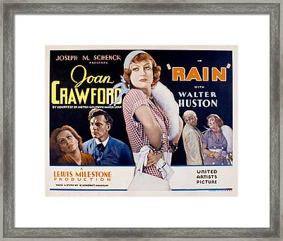 Rain, Walter Huston, Joan Crawford, Guy Framed Print