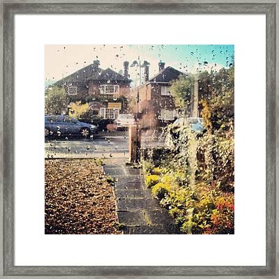 #rain #weather #raindrops #cambridge Framed Print