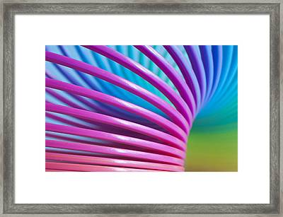 Rainbow 10 Framed Print by Steve Purnell