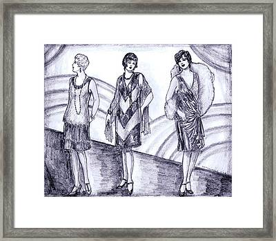 Rainbow 1920s Fashions Framed Print by Mel Thompson