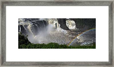 Framed Print featuring the photograph Rainbow And The Waterfall by Vilas Malankar