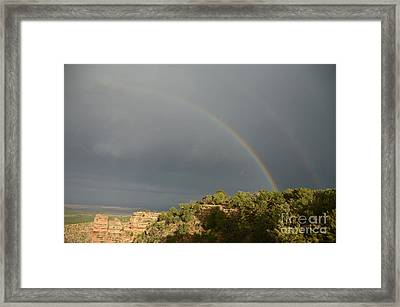 Rainbow At Grand Canyon Framed Print