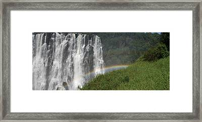 rainbow at Victoria falls Framed Print by Andrei Fried