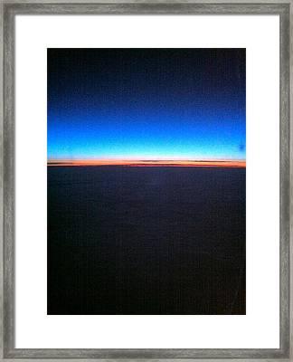 Rainbow Atlantic Framed Print by Kathy Corday