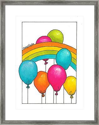 Rainbow Balloons Framed Print