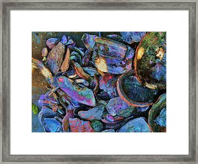 Rainbow Beach Framed Print by Helen Carson