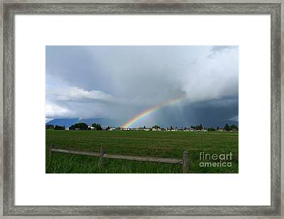 Framed Print featuring the photograph Rainbow Before The Storm by Nina Prommer