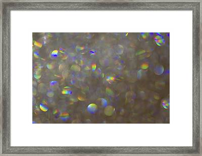 Rainbow Bokeh. Framed Print by Clare Bambers