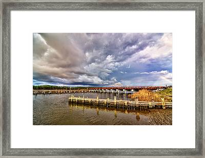 Rainbow Bridge Framed Print by Kelly Reber
