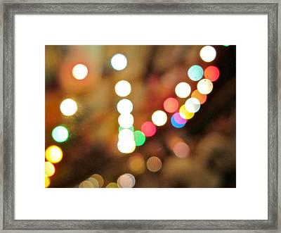 Rainbow Brights Framed Print by Kathy Corday
