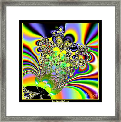 Rainbow Butterfly Bouquet Fractal 56 Framed Print by Rose Santuci-Sofranko