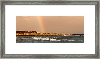 Rainbow By The Sea Framed Print by Stelios Kleanthous