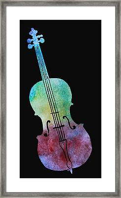 Rainbow Cello Framed Print by Jenny Armitage