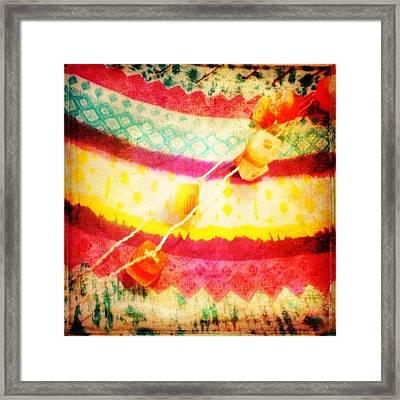 #rainbow #colourful #prettycolors Framed Print