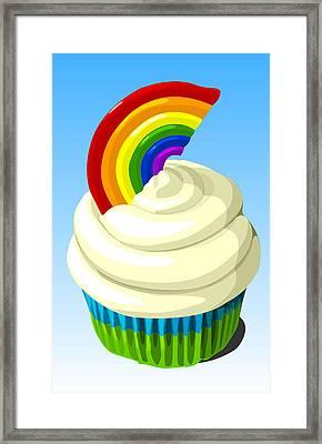 Rainbow Cupcake Framed Print by Jay Reed