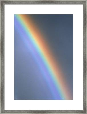 Rainbow Framed Print by Dr Morley Read