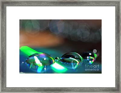Rainbow Drops Framed Print